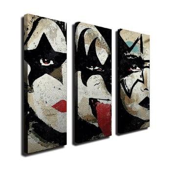 Tablou pe pânză din 3 piese The Kiss de la Unknown
