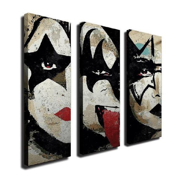 The Kiss 3 részes vászon fali kép