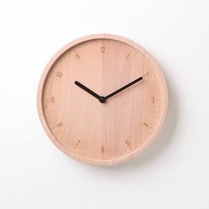 Černé hodiny z bukového dřeva Qualy&CO Allday Round