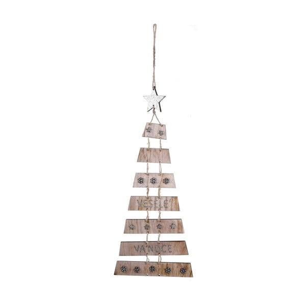Závěsná vánoční dekorace ve tvaru stromku s hvězdou Ego dekor
