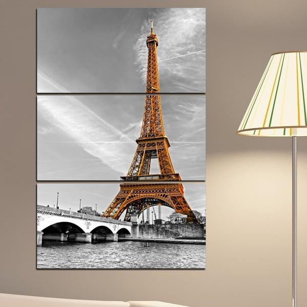 3dílný obraz Eiffelova věž