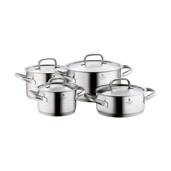 Set 4 oale din oțel inoxidabil cu capac WMF Cromargan® Gourmet Plus
