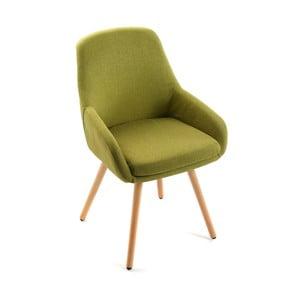 Scaun tapițat verde Versa Lerwick Green