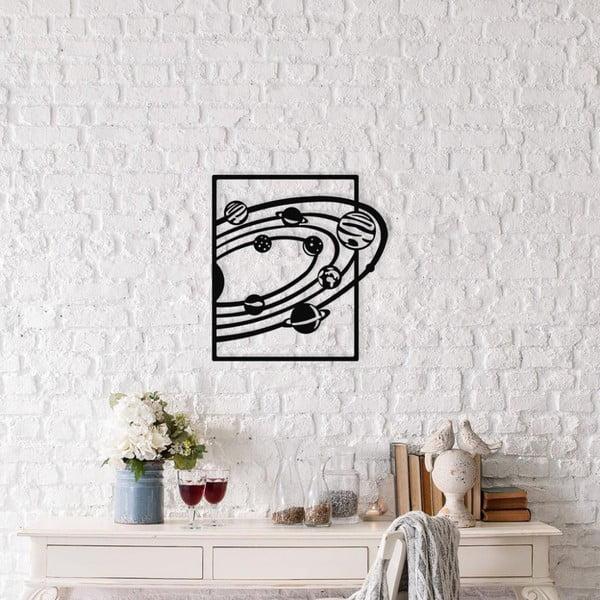 Černá kovová nástěnná dekorace Milkway, 47 x 50 cm
