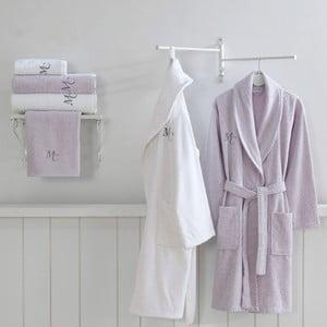 Set 2 bavlněných županů a 4 ručníků z edice Marie Claire Olive