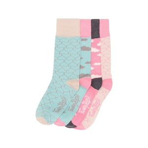Sada 4 párů barevných ponožek Funky Steps Vanilla, vel. 35-39