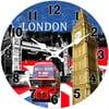 Skleněné hodiny V Londýně, 34 cm