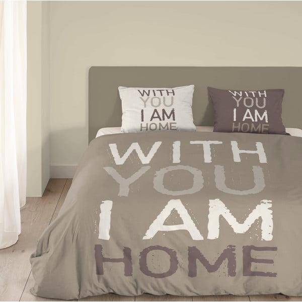Béžové bavlněné povlečení Muller Textiels I'm Home, 240x200cm