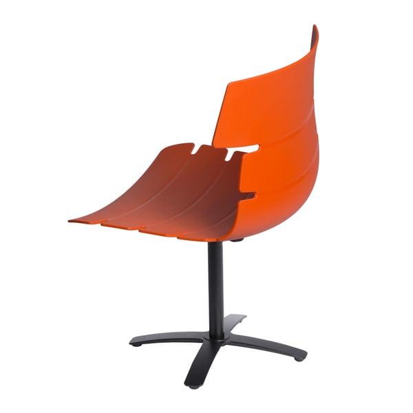 Sada 2 oranžových židlí D2 Techno One