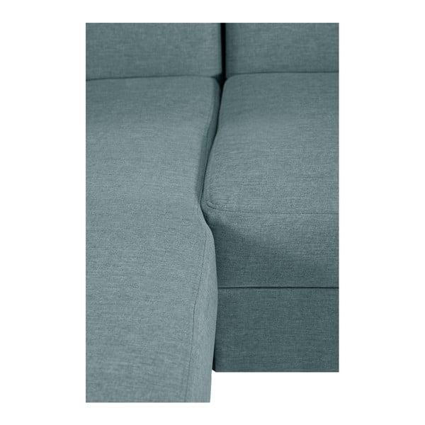 Mentolově modrá sedačka Interieur De Famille Paris Bijou, levý roh