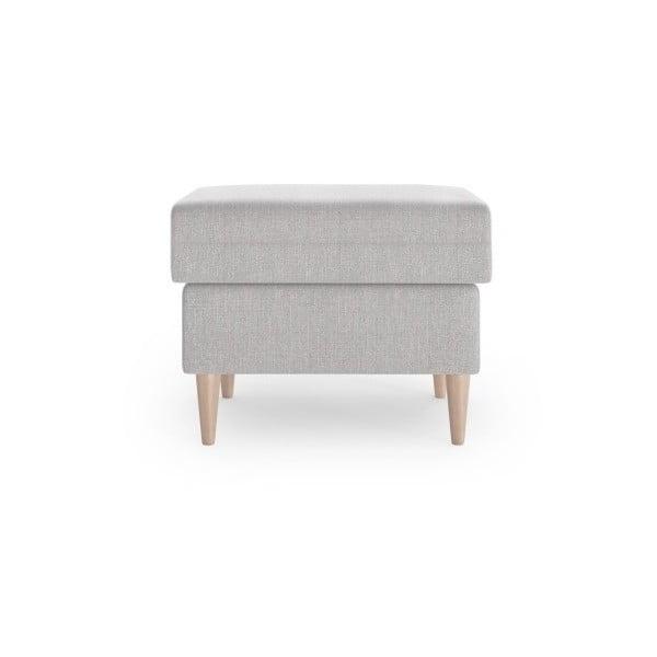 Světle šedý puf Mazzini Sofas Aubrieta, 60 x 45 cm