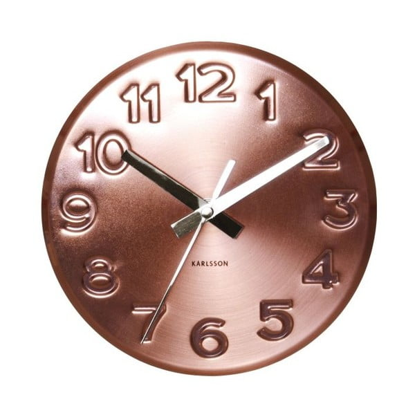 Hodiny Present Time Bold Engraved Numbers