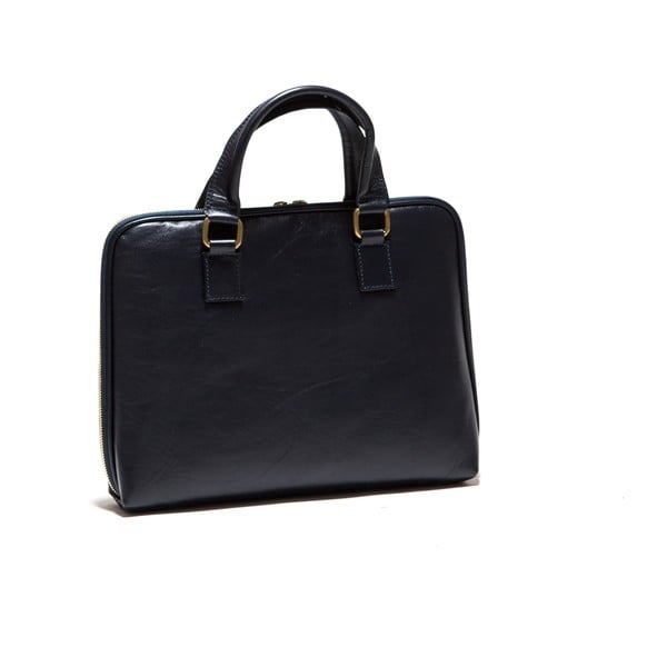 Kožená taška na notebook Anna Luchini 2120 Blue