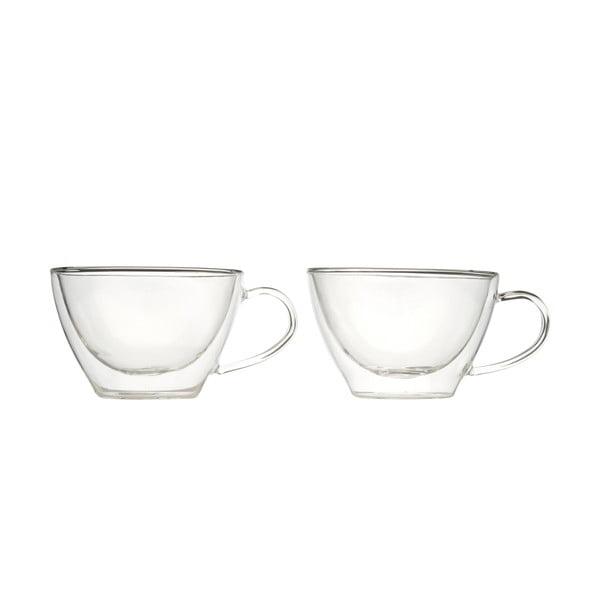 Sada 2 dvojstenných pohárov na cappucino Bredemeijer, 385 ml