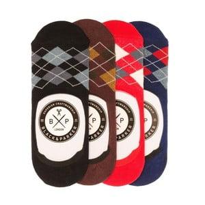 Sada 4 párů neviditelných unisex ponožek Black&Parker London Cooper,velikost37/43