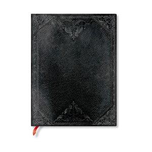 Linkovaný zápisník s měkkou vazbou Paperblanks Midnight Rebel, 18x23cm