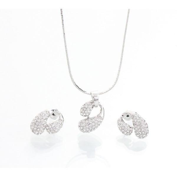 Set náhrdelníku a náušnic se Swarovski krystaly Yasmine Meuse
