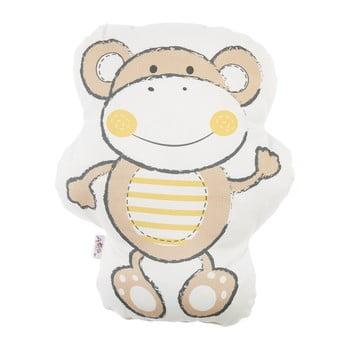 Pernă din amestec de bumbac pentru copii Apolena Pillow Toy Beatto, 31 x 36 cm, maro de la Apolena
