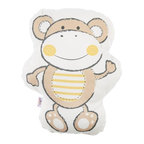 Hnedý detský vankúšik s prímesou bavlny Apolena Pillow Toy Beatto, 31 x 36 cm