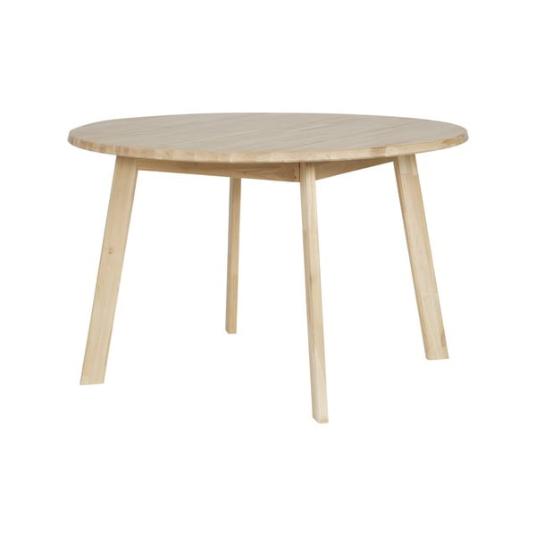 Masă din lemn de stejar WOOOD Disc, Ø 120 cm