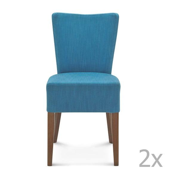 Sada 2 modrých židlí Fameg Aslak