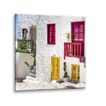 Tablou Styler Glasspik Destination Greece III, 30 x 30 cm