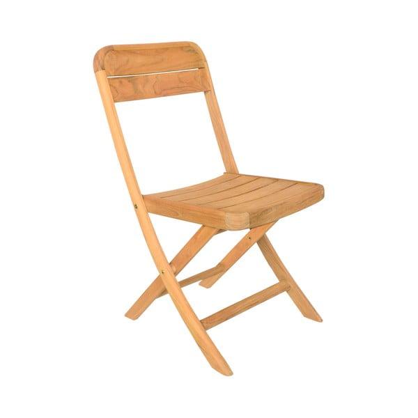Set 4 scaune pliabile de grădină din lemn de tec Ezeis Sun, natural