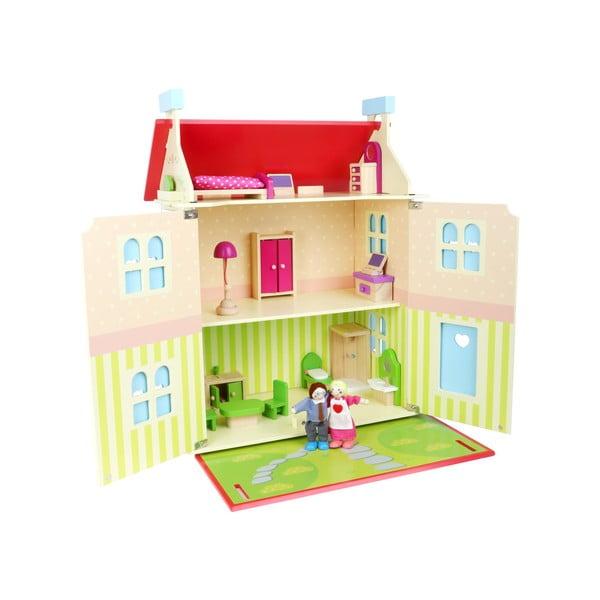 Drevený domček s odnímateľnou strechou pre bábiky Legler Doll