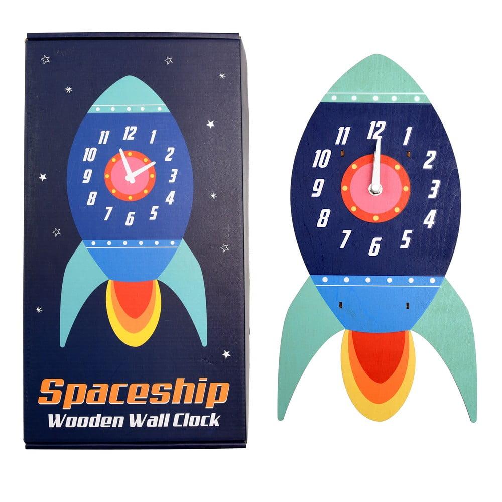 Dětské nástěnné hodiny ze dřeva Rex London Spaceship