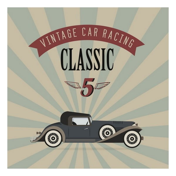 Obraz Vintage car, 28x28 cm
