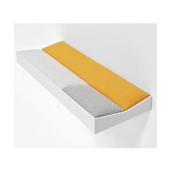 Snug White Orange, polstrovaná police 60 cm