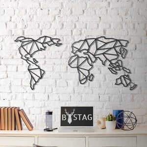 Decorațiune din metal pentru perete Map, 60 x 130 cm