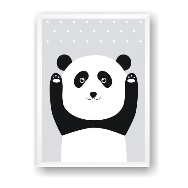 Plakát Nord & Co Snow Panda, 30 x 40 cm