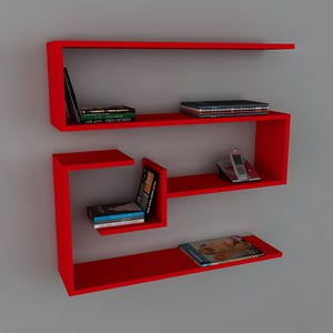 Police Confier Book Red, 22x90x87 cm