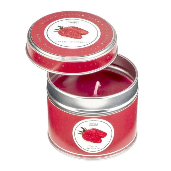 Aroma svíčka v plechovce s vůní jahod Copenhagen Candles, doba hoření 32 hodin