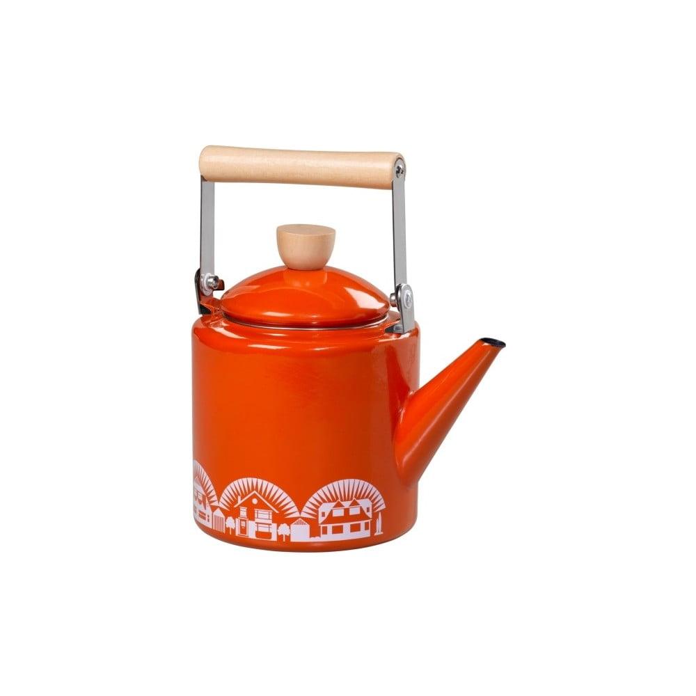 Oranžová smaltovaná konvička Mini Moderns