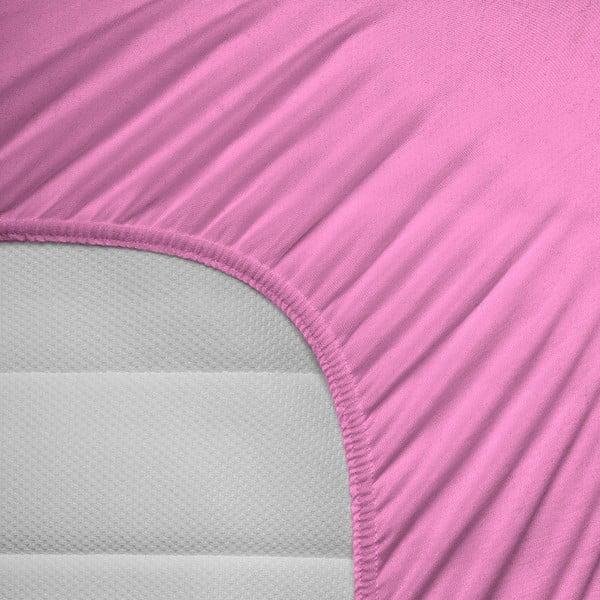 Elastické prostěradlo Hoeslaken 140x200 cm, růžové