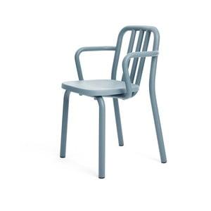 Modrá židle s područkami Mobles 114 Tube