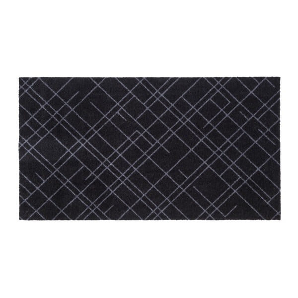 Lines fekete-szürke lábtörlő, 67x120cm - tica copenhagen