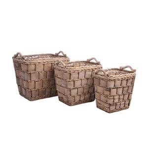 Set košíků Brown Reed, 3 ks