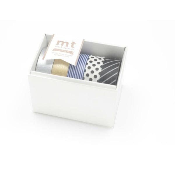 Sada 5 washi pásek Gold/Silver