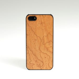 Dřevěný kryt na iPhone 5, Topo design třešeň