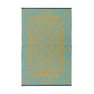 Modrozelený oboustranný venkovní koberec Green Decore Gala, 90 x 150 cm