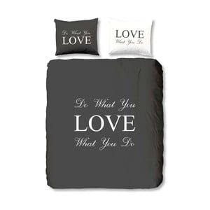 Antracitové povlečení Muller Textiel Love, 140x200cm