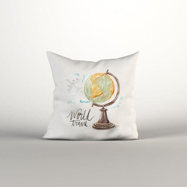 Față de pernă World Globe, 40 x 40 cm