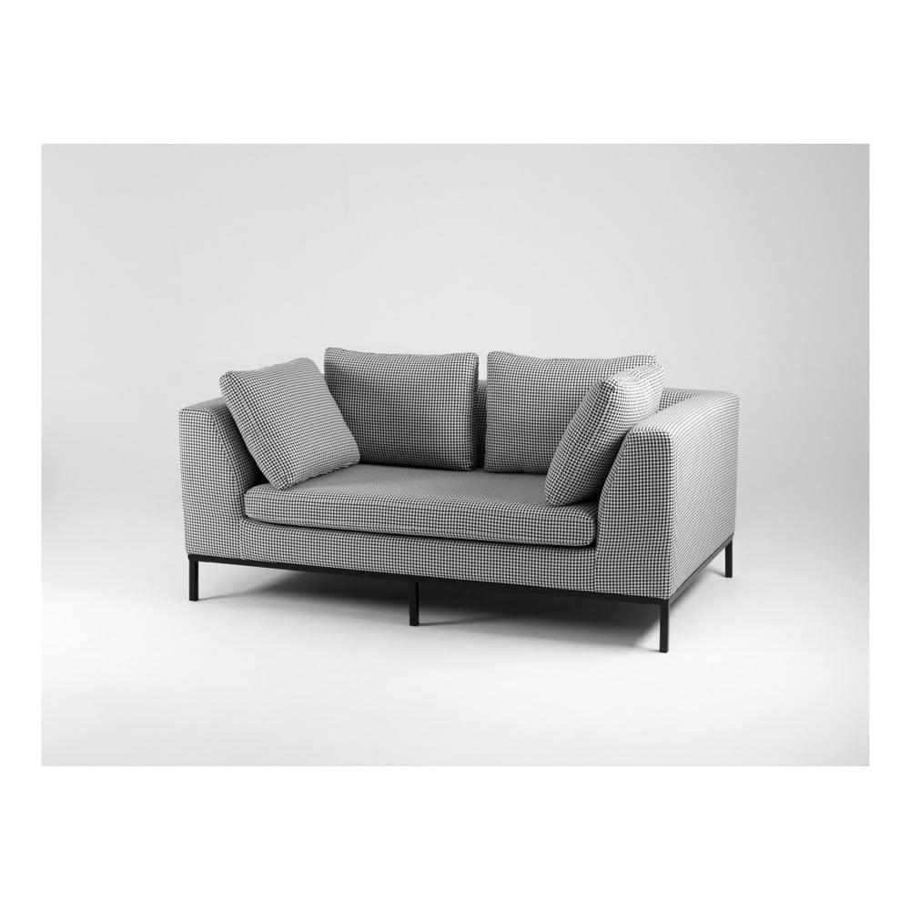 Černobílá dvoumístná pohovka Custom Form Ambient