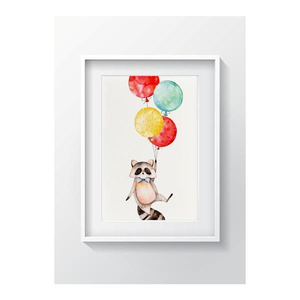 Nástenný obraz OYO Kids Raccoon Adventures, 24 x 29 cm