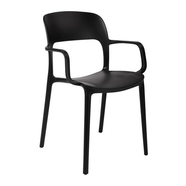 Sada 2 černých židlí s opěrkami D2 Flexi