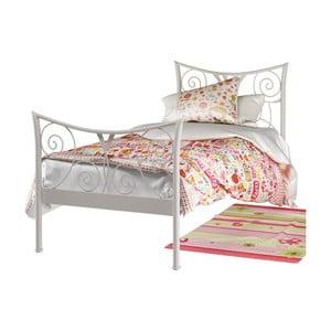 Bílá kovová postel Støraa Elizabeth, 90x200cm
