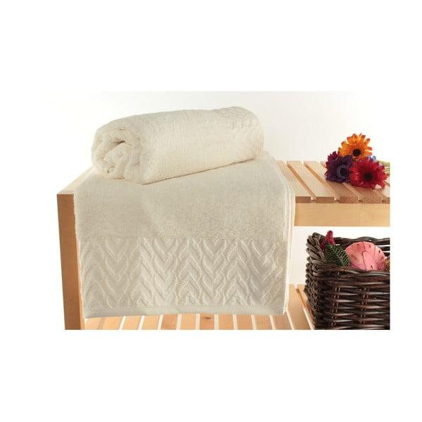 Sada 2 krémových ručníků Kepl